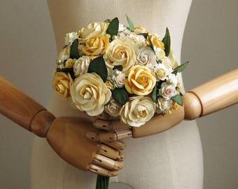 Custom wedding bouquet - Paper bridal bouquet - 8 inches