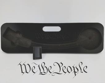 We The People - AR-15 Magazine Speed Loader Black PVC Engraved for AR 15 gun