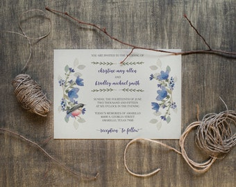 DIY Digital Printable Wedding Invitation