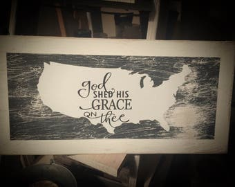 Distressed USA sign