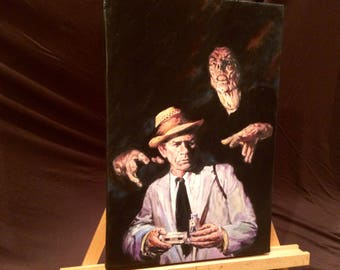 """Reserved For Pete KOLCHAK The Night Stalker Hand Painted Acrylic Paint on Stretched Canvas 12"""" x 16""""."""
