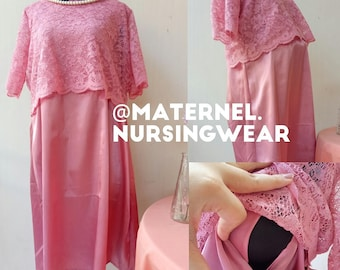 Self-manufactured nursing party dress