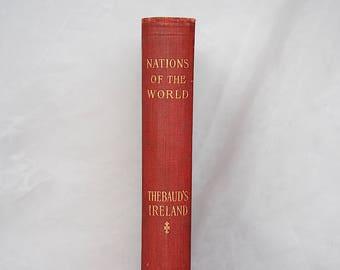 Irish History Book - Irish Gift Idea - Vintage Gifts Ireland - Vintage Books Ireland - Thebaud's Ireland - History of Ireland - Irish Decor