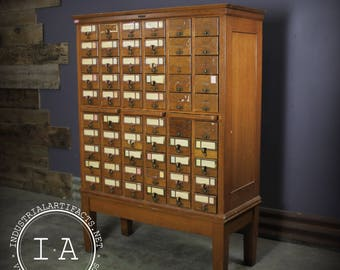 Vintage Remington Rand 60 Drawer Library Card Catalog