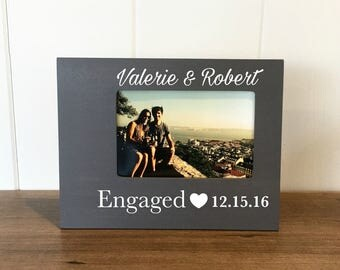 Personalized Engagement Picture Frame, Engagement Photo, Engagement Party, Engagement Announcement, Engagement Gift for Couple, Mr. & Mrs,