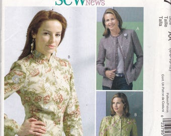 McCalls 327 Vintage Pattern Womens Fitted Lined Jackets in 3 Variations Size 6,8,10,12 UNCUT