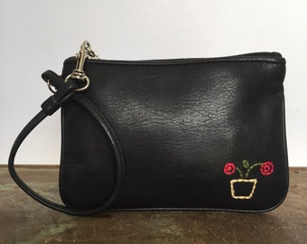 Small Black Leather Coin Purse