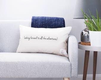 Clouds and Currents Cushion Cover Reverse Message