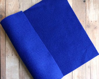 Royal Blue Acrylic Felt Sheets or Circles, High Quality, Made in USA, Cobalt Felt, 5 9x12 Sheets or 30 Pack of 1 inch Circles, Quick Ship