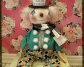 Primitive Folk Art Keeper of the Snow Doll