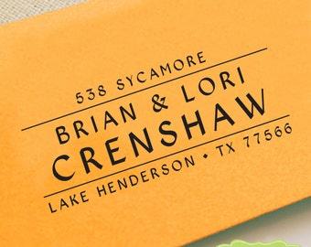 CUSTOM ADDRESS STAMP, personalized pre inked address stamp, pre inked custom address stamp, return address stamp with proof - Stamp b5-19