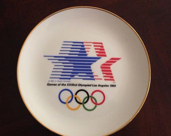 1984 LA Olympics Limited Edition Collectible Plate by Papel