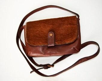Small leather bag Massimo Dutti