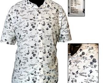 Retro Hawaiian Shirt / Retro Surfer Shirt / Beach Shirt / Retro Lounge Shirt