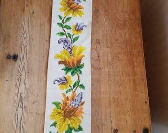 Lovely floral embroidered wall hanging from Sweden