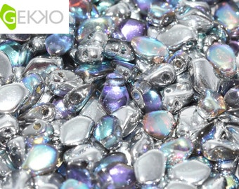 Gekko® Beads Crystal Silver Rainbow, 5 grams, 3 x 5mm, (approx 100 beads)