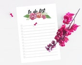 To Do List Printable in Pink Floral
