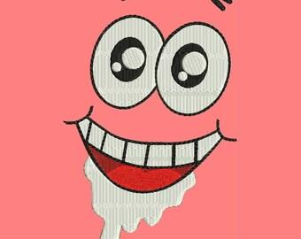Cartoon Face Machine Embroidery Designs - Cartoon Instant Download Design 121