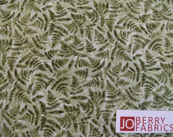 Green Fern Leaf from Natures Trail Collection by Paintbrush Studio.  Quilt or Craft Fabric, Fabric by the Yard