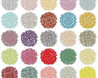 80% OFF SALE 25 flower clipart commercial use, vector graphics, digital clip art, digital images  - CL499