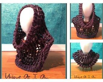 Crochet Ladies Homespun Hooded Cowl