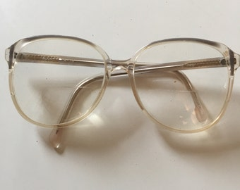 80s Eyeglasses Clear Optical Big Eye Frames