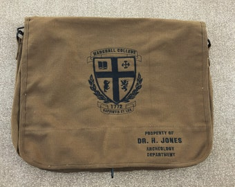 Indiana Jones Embroidered Messenger Bag (Home Embroidered)