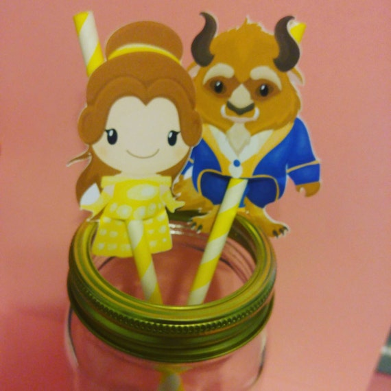 Beauty and the Beast Party Straws