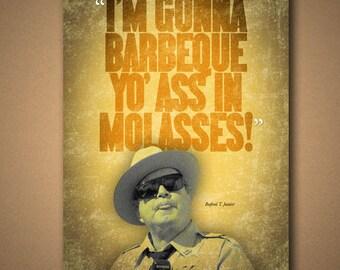 "Smokey & The Bandit ""Molasses"" Quote Poster"