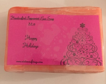 Christmas Peppermint Bar Soap