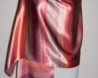 Pure Silk Shawl Wrap, Evening Shawl - Hand Painted.