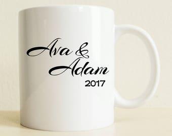 Couple Mug | Unique Wedding Gift | Custom Bride Gift | Wedding Present | Gifts for Him | Husband Gift | Engagement Gift | Valentines