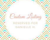 Custom Body Lotion for Danielle H.