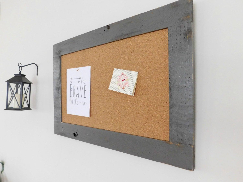 industrial cork board large framed bulletin board message. Black Bedroom Furniture Sets. Home Design Ideas