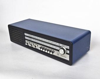 Vintage Tube Radio Iskra Planica / Mp3, Ipod Compatible / 5 Pin Din Plug To 3.5mm Jack Plug Audio Cable / Blue / 70s Yugoslavia