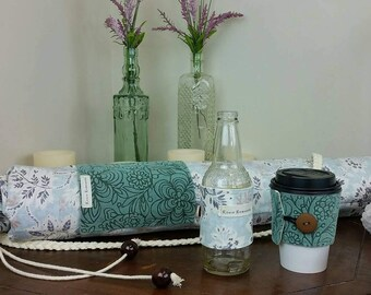 The Earth-Loving-Hippie-Beach-boho Yoga Mat Bag with Coffee/Tea *and* Beer Wrap!