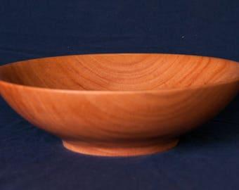 Large Hand Turned Wooden (Red Oak) Fruit Bowl