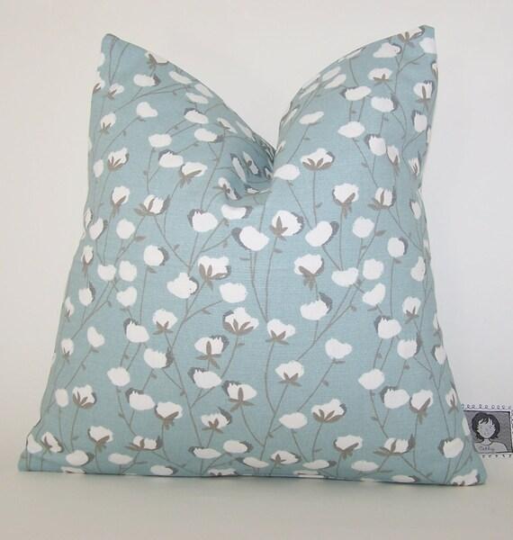 Spa Blue Throw Pillow Cover : COTTON PILLOW COVER Spa Blue Throw Pillow Case Fits