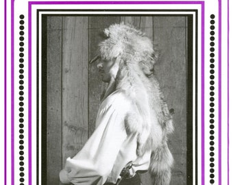 Eagle's View Sewing Pattern Early 1800s Frontier Fur Hat Indians & Mountain Men Style sizes 6 5/8-7 5/8