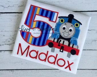 Personalized Train Applique Shirt, boys birthday shirt, train, train birthday shirt