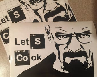 Breaking bad Instant pot decal, pressure cooker decal, crockpot decal, Let's Cook Breaking Bad, decals for instant pot