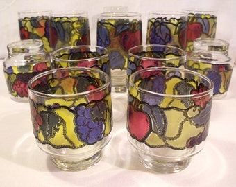 Libbey Rock Sharpe Stained Glass Fruit