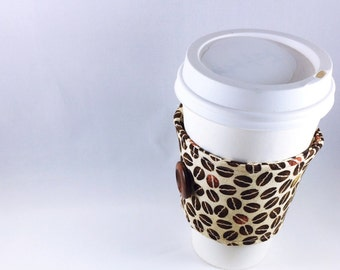 Coffee Bean Coffee Cozy Sleeve Cuff