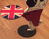 Pug Dog Dumbwaiter Union Jack Side Table - Snacks Table