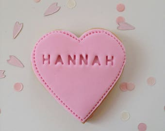 loveheart wedding favour, wedding biscuits, personalised biscuit, heart gift, cookie favour