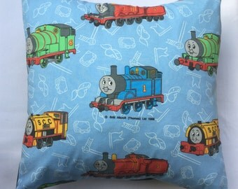 Thomas the Tank Engine Train Vintage Fabric Cushion - Handmade by Alien Couture