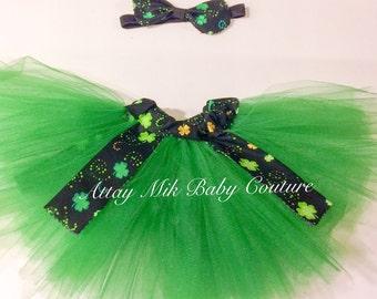 Saint patrick day tutu. Girls St. Patricks Day skirt. St. Particks Day Bow.  saint patricks day outfit. Saint patricks day outfit