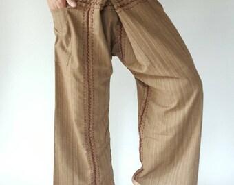 TCZ0020 Hand Sewing Inseam design for Thai Fisherman Pants Wide Leg pants, Wrap pants, Unisex pants