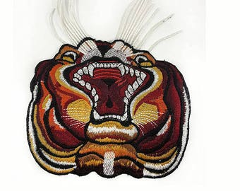 Embroidered Tiger Animal Patch Applique, Gucci Style Tiger Style Patch Applique