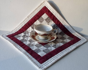 Handmade Mini Quilt Cotton Quilted Table Topper